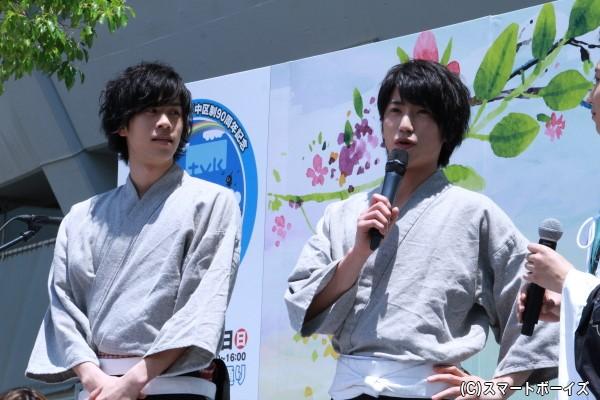人気急上昇中のエンターテイメント集団「Candy Boy」のメンバーでもある奥谷知弘さん(右)と安孫子宏輔さん(左)もイベントに参戦!