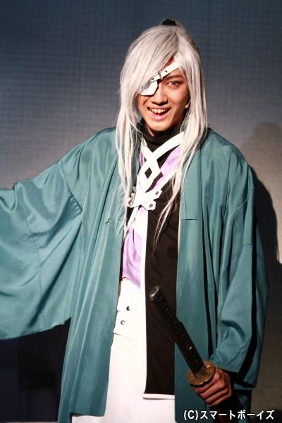 伊達政宗役の小坂涼太郎さん