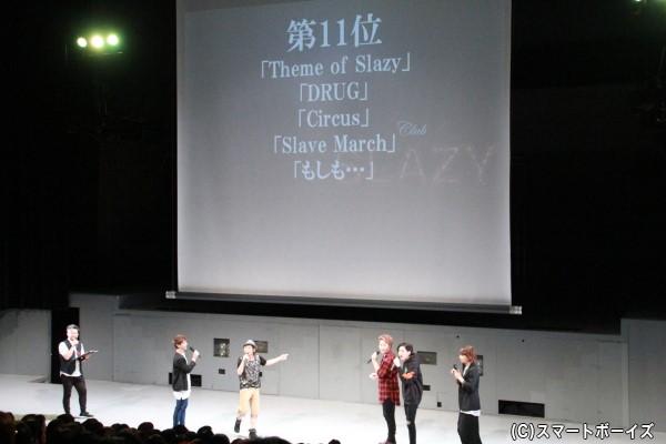 11位タイに入った5曲に、上位だと思っていた5人は予想外の順位に驚嘆