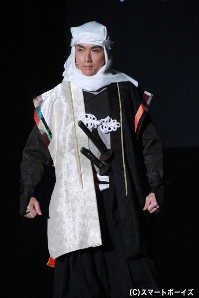 上杉謙信役の細貝圭さん