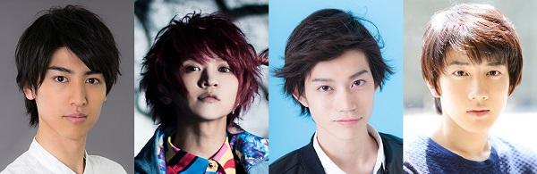 (左から)井阪郁巳さん、辻 諒さん、高橋健介さん、赤澤遼太郎さん