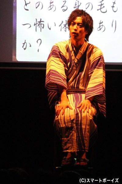 松井さんの怪談は、会場を一気に凍りつかせる怖さ!!