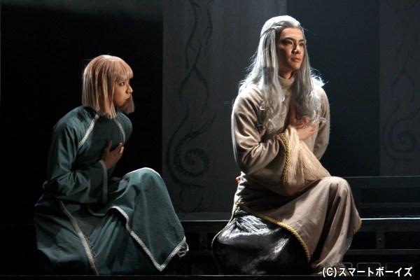 ラルドに仕える、イマク役の北乃颯希さん(写真左)