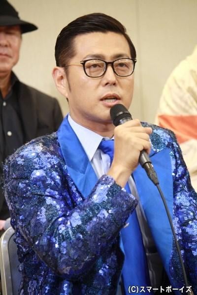 今作の作・演出、本橋五郎役・京太郎役を務める宅間孝行さん