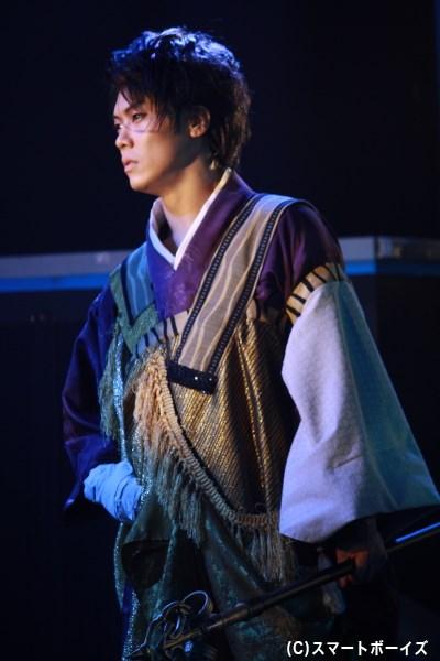 信長への復讐に燃える、顕如役の鷹松宏一さん