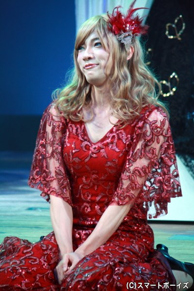 ディミートリアスを愛する、ヘレナ役の和合真一さん