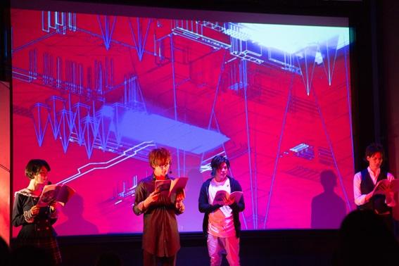 音楽・光・映像の演出を駆使した、新感覚の朗読劇