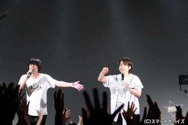 「GACHI LIVE」でコンビを組む桑野晃輔さんがサプライズ出演!