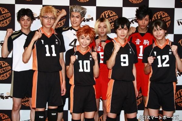 (後列左から) 結木滉星さん、吉本恒生さん、永田崇人さん、近藤頌利さん (前列左から)小坂涼太郎さん、須賀健太さん、影山達也さん、三浦海里さん