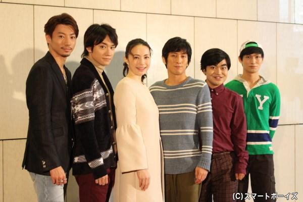 (左より)矢崎広さん、良知真次さん、ミムラさん、成河(ソンハ)さん、加藤諒さん、松田凌さん