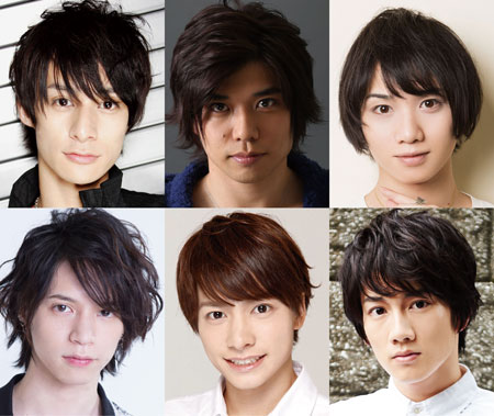 (上段左から)高崎翔太さん、柏木佑介さん、植田圭輔さん (下段左から)北村諒さん、小澤廉さん、赤澤遼太郎さん