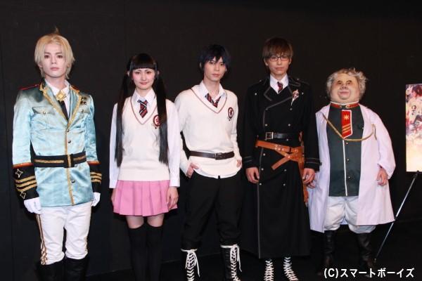 (左より)横田龍儀さん、大久保聡美さん、北村諒さん、宮崎秋人さん、原勇弥さん
