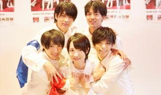 MAG!C☆PRINCE (後列左から)永田薫さん、阿部周平さん (前列左から)平野泰新さん、西岡健吾さん、大城光さん