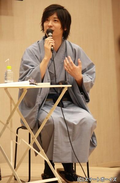 自ら「ザ・日本男児!」と名乗るほど、バッチリと着物を着こなす一慶さん