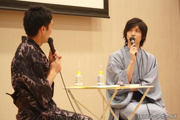 山本一慶さんが、着物姿でDVD撮影裏話&プライベートトークを披露!
