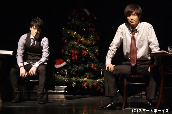寒空の下、凍えながらカフェへとやってきた2人にはどんなクリスマスが