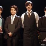 (左から)平田裕一郎さん、山本匠馬さん、汐崎アイルさん、大薮丘さん