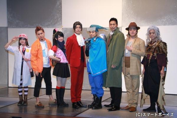 (左より)野口真緒さん、林明寛さん、荒井レイナさん、和田琢磨さん、富田翔さん、磯貝龍虎さん、宮下雄也さん、杉原勇武さん