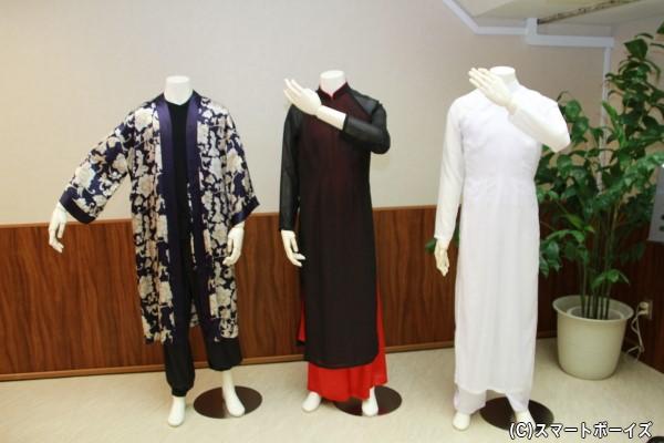 イベント会場では、太田さんが着用した衣装が展示