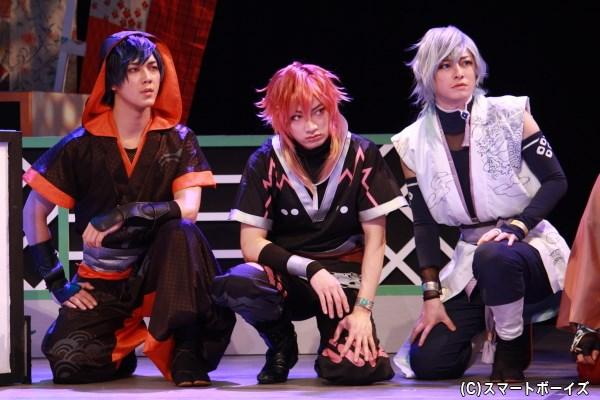(写真左端)結忍・鮭役の山沖勇輝さん