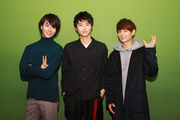 (左より)山崎大輝さん、岐洲匠さん、榊原徹士さん