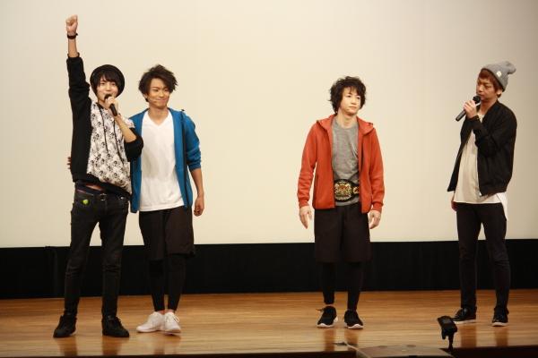 リアル対決イベント第1部では、海老澤健次さん&二平壮悟さんがゲストで参戦!ヒーローポーズが炸裂!!