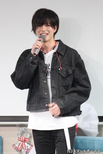 「実はアウェイ感あります(笑)」と、ただ一人の他校参戦な松田裕さん