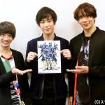 (左から)古田一紀さん、本田礼生さん、松田岳さん