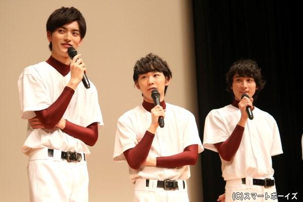 3バカを演じた3人は、実際も同じ高校出身! (須賀さんが1学年先輩、小関さん&山本さんは同級生)