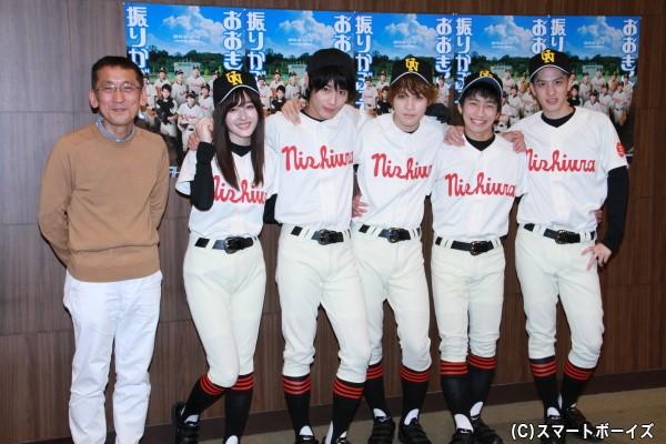 (左より)成井豊さん、久住小春さん、猪野広樹さん、西銘駿さん、納谷健さん、白又敦さん