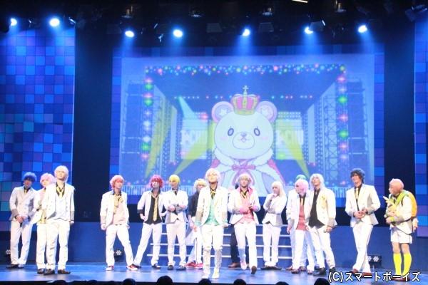 計5組・17人のアイドル達がステージに集結!!