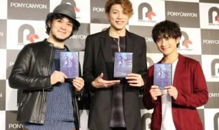 (左から)『グランギニョル』DVD発売記念イベントに登壇した末満健一さん、東啓介さん、松浦司さん
