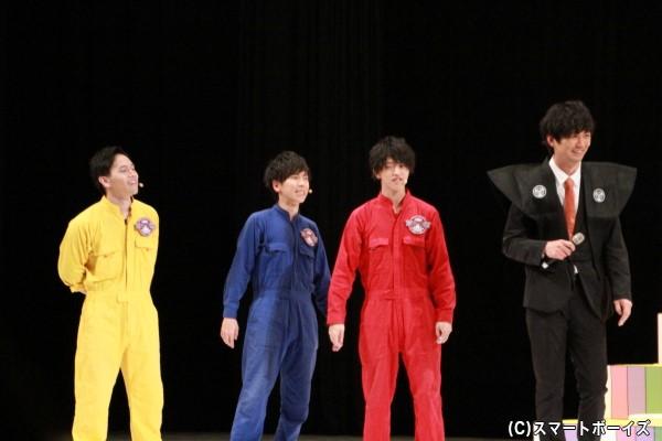 ≪火曜担当≫ (左より)山形匠さん、大矢剛康さん、石渡真修さん、小林且弥さん