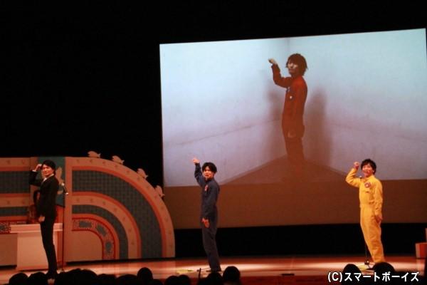 """月曜チームの朗読 VTR出演の和田さんと共に""""踊ってみた""""を披露"""