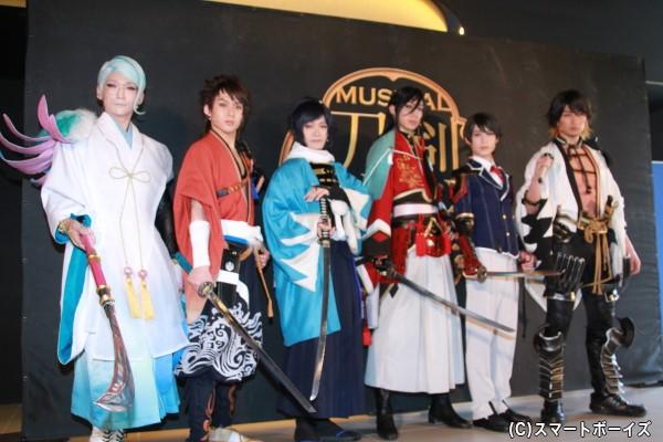 (左より)丘山晴己さん、田村心さん、鳥越裕貴さん、有澤樟太郎さん、阪本奨悟さん、伊万里有さん