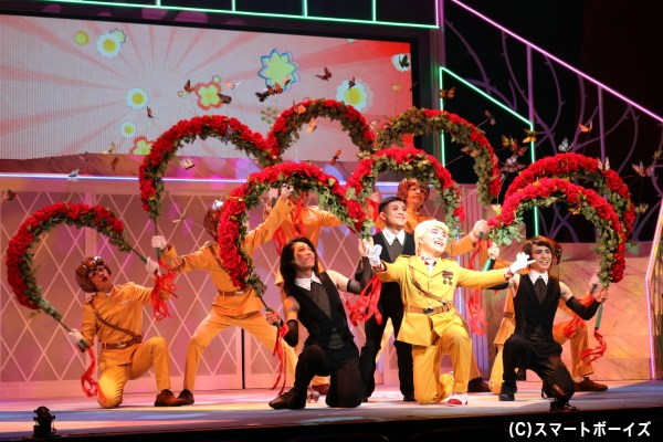 原作のお耽美な世界観そのままに、歌声とダンスでも「パタリロ!」ワールドを表現