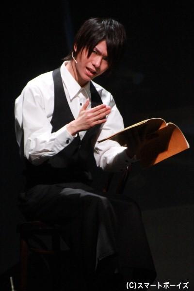 Hチームでは、波風と禄森の物語作りに巻き込まれるウエイター・山田宮里を演じる北川尚弥さん