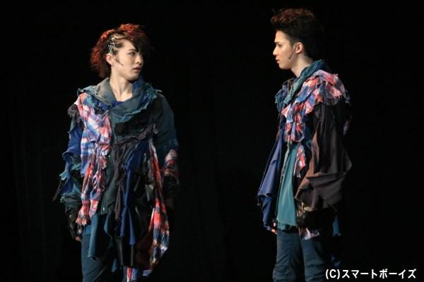 (左から)小星 鉄役の西野龍太さん、東間遠矢役の豊嶋杏輔さん