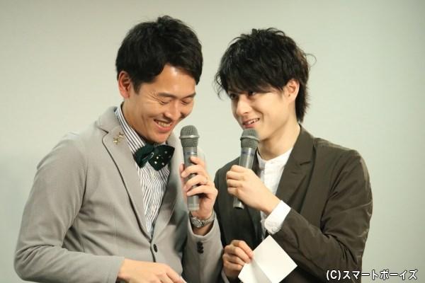 """松村さんの""""圧""""が強いトークに、せとさんも笑いがこらえきれない場面も!"""