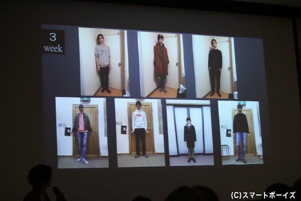 毎日撮影したという2月の私服姿を大公開! 果たしてモテコーデはどの服に?