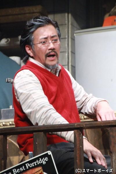 梨子の父・秋山信之介役の水谷あつしさん