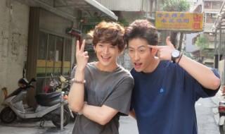 伊万里有さん(右)と丘山晴己さん、台湾で撮影真っ最中です!