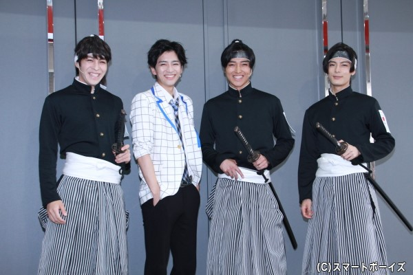 (左より)西銘駿さん、飯島寛騎さん、栗山航さん、塩野瑛久さん