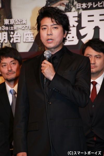 柳生十兵衛役の上川隆也さん