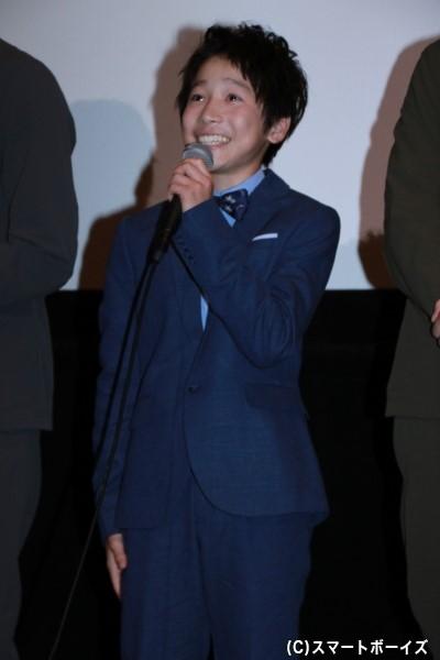 佐久間小太郎/コグマスカイブルー役の田口翔大さん