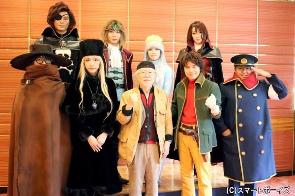 会見では、松本零士さん(前列中央)も登場!