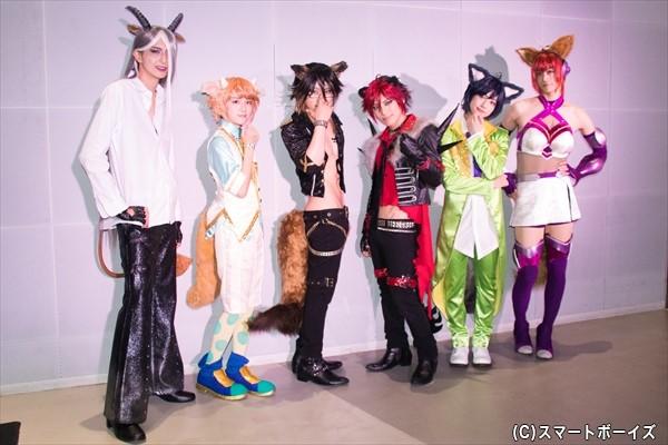 (左より)吉岡 佑さん、板垣李光人さん、鳥越裕貴さん、米原幸佑さん、ゆうたろうさん、高橋健介さん