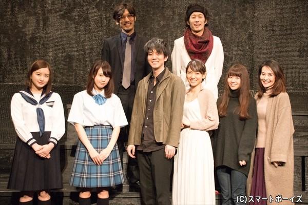 (1段目左より)安部乙さん、永島聖羅さん、安里勇哉さん、永夏子さん 、水原ゆきさん、金子さやかさん (2段目左より)宮下貴浩さん、私オムさん
