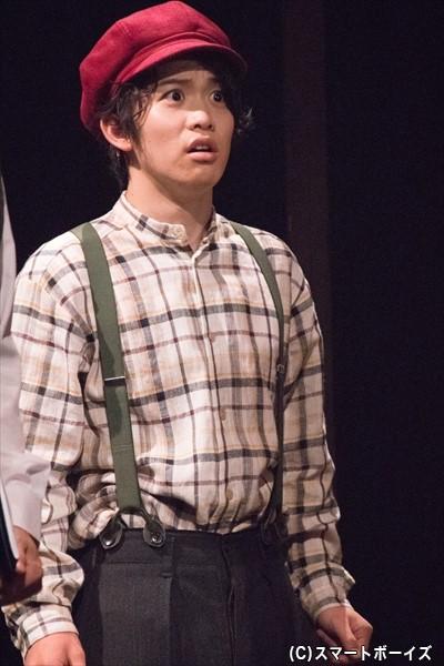アメリカの学校に通うことになった万次郎の同級生・テリー役の輝山 立さん