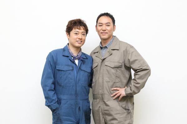 初演に引き続きダグ役を福井晶一さん(右)、バド役を原田優一さんが